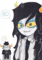 Vriska and Tavros by Ancyd-Watercolour