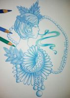 Drawing Dasies in Cool Colors by ColorMyMemory