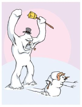 Frosty the Abominable Snowman by gloriouskyle