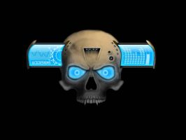 Tech skull by DarthAcey
