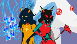 Terezi and Vriska by katrinpafford