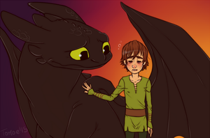 .HTTYD: Tired Viking. by Kikuri-Tan