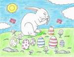 Easter bunny by Maleiva