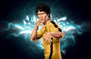 Bruce Lee Graff Wallpaper by Nerkin