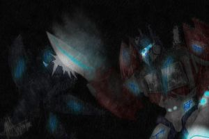 Request - TFP Optimus Prime vs Soundwave by MNS-Prime-21