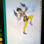 Overwatch Tracer Watercolor by ZackNoone