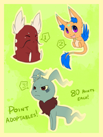 Point Adoptables Set 1 - !! Sold !! by Maipee-Chan