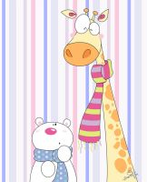 Giraffe and Polar Bear by Frog-FrogBR