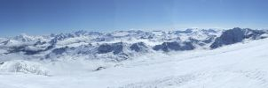 Panorama Tignes,France Alps 01 by Siccie