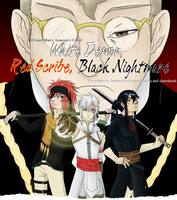 White Demon, Red Scribe, Black Nightmare by BambooFoxFire