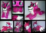Commission - Fuchsia Wolf by KatWithKnives