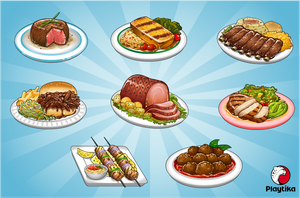 BBQ Food Items by pokketmowse