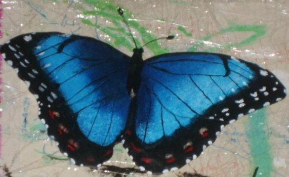 Blue Butterfly For Mom by ElvanArtisan