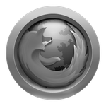 Grey Firefox Icon by JoshyCarter