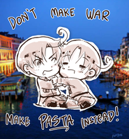 Don't make war, make pasta instead! by vanipy05