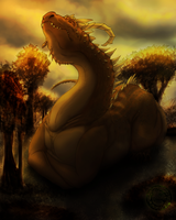 Noble Woodland Dragon by whiteicepanther