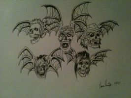 Avenged Sevenfold Deathbats by Genna182