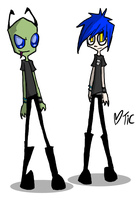 Invader Zim oc - Sin by Invader-Tic