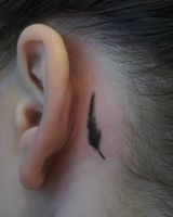 Feather tattoo by sHavYpus