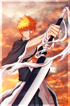 Bleach - The Death and Strawberry [Coloring] by II-Trinuma-II