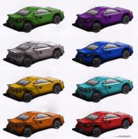 Car Color Variations by daecu7