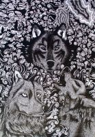 Wolves by lilman101