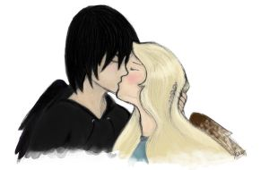 Max and Fang Kiss: Color by MissOrange94