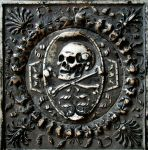 Stone skull and crossbones by barefootliam-stock
