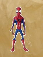 color sketch spiderman by ibrahx