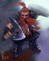 Dwarven Battlevigorous fighter by NezyrWorks