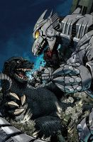 Godzilla Cover 5 Color by nelsondaniel