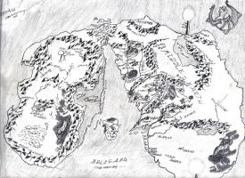 Middle-Earth and the Undying lands map ink version by Niwreg159