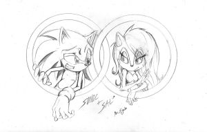 Sonic and Sally - Pencils by MrEgaku