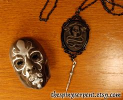 Dark Mark Cameo Necklace by kittykat01