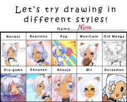 Pixiv style meme by Poooding