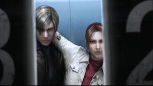 Leon S. Kennedy and Claire Redfield by zeldafreak2o1o