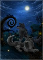 Lovers under the starry sky by SlokGreatwolf