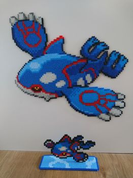 Pokemon #51 - Kyogre + mini by MagicPearls
