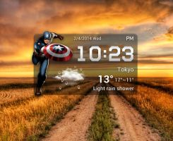 Captain America Widget for xwidget by jimking