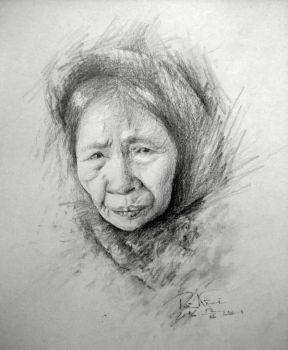 My Grandmother Sketch by SongDuong