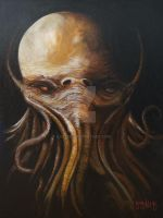 Cthulhu on canvas... by graynd
