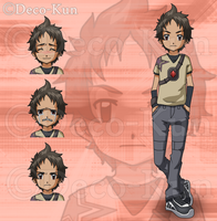 Commission: Ganta Igarashi in Digimon Style by Deko-kun
