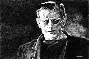 Frankenstein pencil by bloodedemon