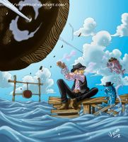 One Piece - Sanji Day of fishing by Veckito