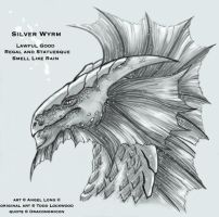 Silver Wyrm -colour- by bishie-keeper