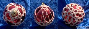 Shiney Red and White Ornament by Dorothy-T-Rose