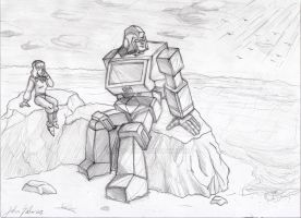 Carly and Ironhide by JP-V
