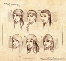 Faces design sketches by Ranoartwork