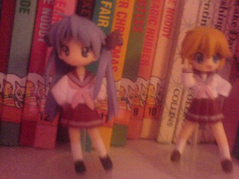 Kagami and Patty-Chan Figures by Livii-Chann