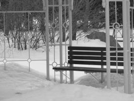 Frozen Bench by Keiko9